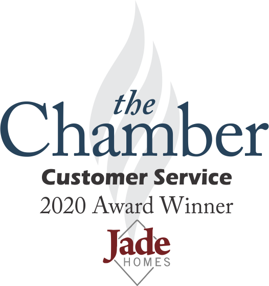 Chamber of Commerce 2020 Customer Service Award Jade Homes